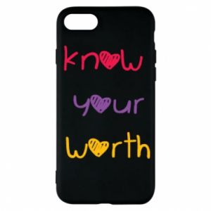 Etui na iPhone 7 Know your worth
