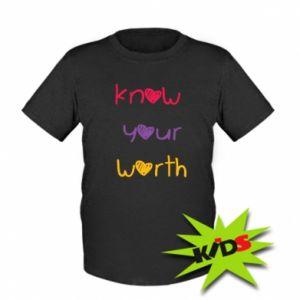 Dziecięcy T-shirt Know your worth