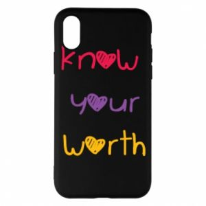Etui na iPhone X/Xs Know your worth