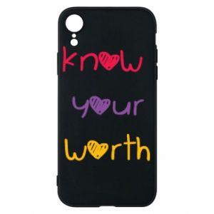 Etui na iPhone XR Know your worth