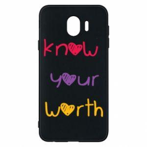 Etui na Samsung J4 Know your worth