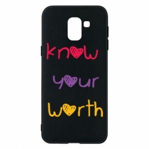 Etui na Samsung J6 Know your worth