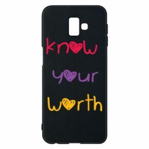 Etui na Samsung J6 Plus 2018 Know your worth