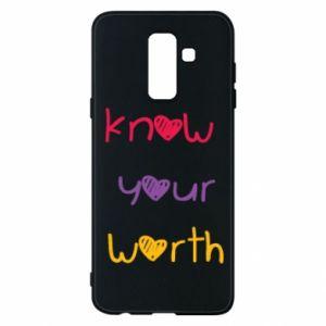 Etui na Samsung A6+ 2018 Know your worth