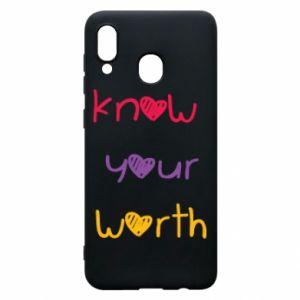 Etui na Samsung A20 Know your worth