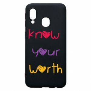 Etui na Samsung A40 Know your worth