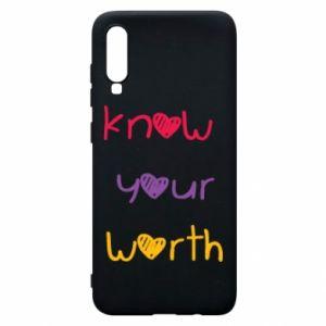 Etui na Samsung A70 Know your worth