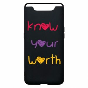 Etui na Samsung A80 Know your worth