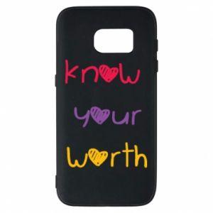Etui na Samsung S7 Know your worth