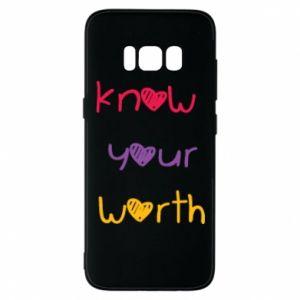 Etui na Samsung S8 Know your worth