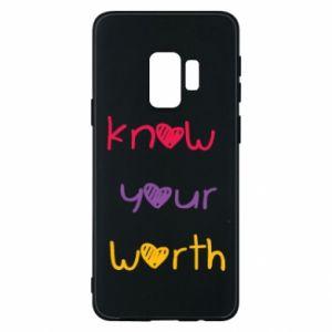 Etui na Samsung S9 Know your worth