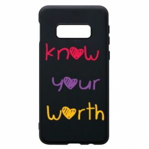Etui na Samsung S10e Know your worth