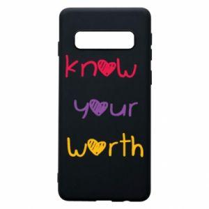Etui na Samsung S10 Know your worth
