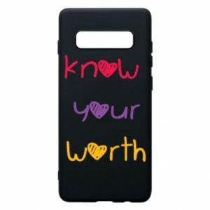 Etui na Samsung S10+ Know your worth