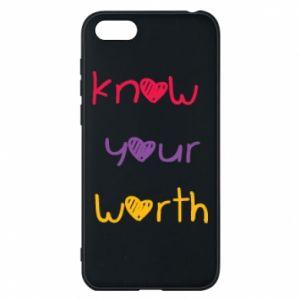 Etui na Huawei Y5 2018 Know your worth