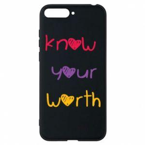 Etui na Huawei Y6 2018 Know your worth