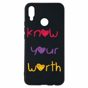 Etui na Huawei P Smart Plus Know your worth