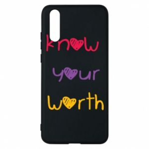 Etui na Huawei P20 Know your worth