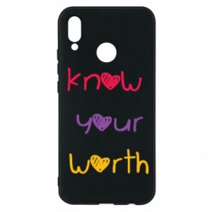Etui na Huawei P20 Lite Know your worth