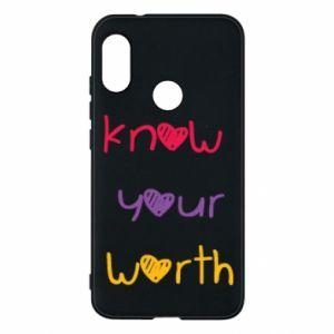 Etui na Mi A2 Lite Know your worth