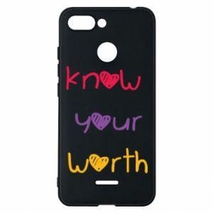 Etui na Xiaomi Redmi 6 Know your worth