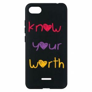 Etui na Xiaomi Redmi 6A Know your worth