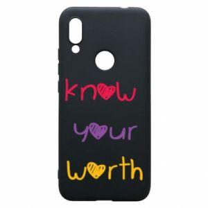 Etui na Xiaomi Redmi 7 Know your worth