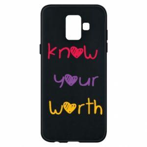 Etui na Samsung A6 2018 Know your worth