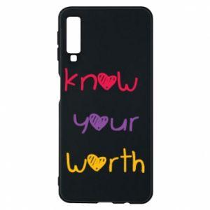 Etui na Samsung A7 2018 Know your worth