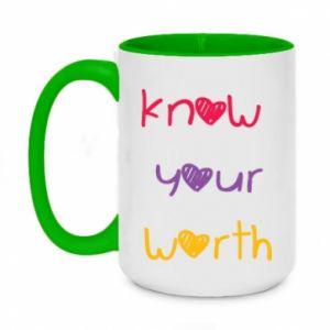 Kubek dwukolorowy 450ml Know your worth