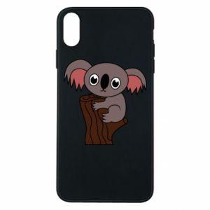 Etui na iPhone Xs Max Koala on a tree with big eyes