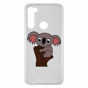 Etui na Xiaomi Redmi Note 8 Koala on a tree with big eyes