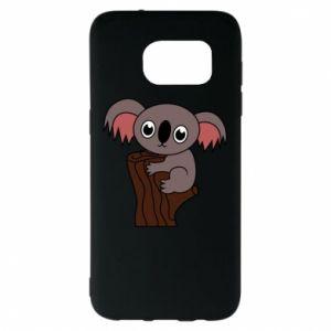 Etui na Samsung S7 EDGE Koala on a tree with big eyes