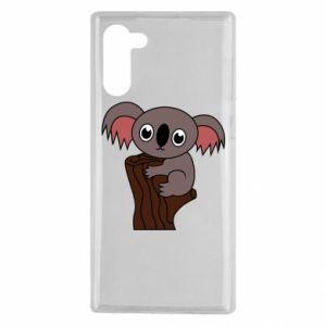 Etui na Samsung Note 10 Koala on a tree with big eyes