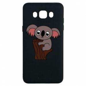 Etui na Samsung J7 2016 Koala on a tree with big eyes