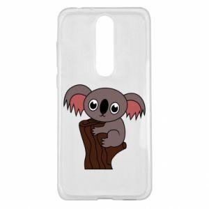 Etui na Nokia 5.1 Plus Koala on a tree with big eyes