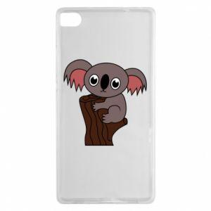 Etui na Huawei P8 Koala on a tree with big eyes