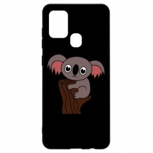 Etui na Samsung A21s Koala on a tree with big eyes