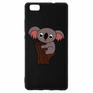 Etui na Huawei P 8 Lite Koala on a tree with big eyes