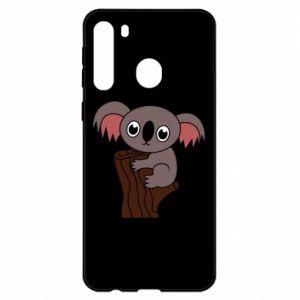 Etui na Samsung A21 Koala on a tree with big eyes