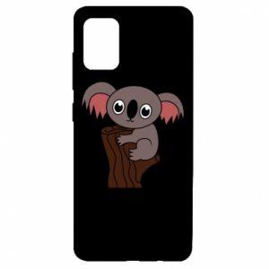 Etui na Samsung A51 Koala on a tree with big eyes