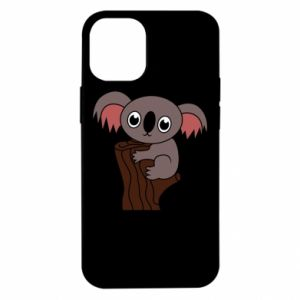 Etui na iPhone 12 Mini Koala on a tree with big eyes