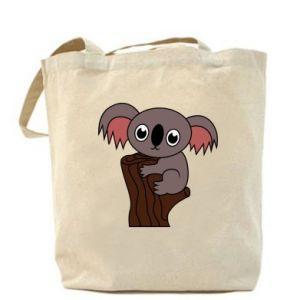 Bag Koala on a tree with big eyes