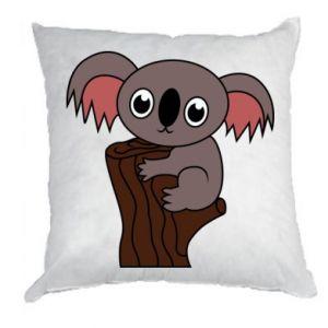 Poduszka Koala on a tree with big eyes - PrintSalon