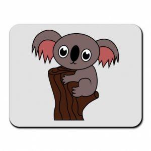 Podkładka pod mysz Koala on a tree with big eyes - PrintSalon