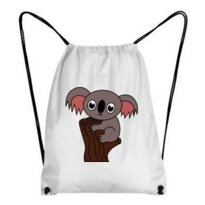 Backpack-bag Koala on a tree with big eyes