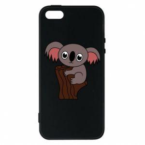 Etui na iPhone 5/5S/SE Koala on a tree with big eyes