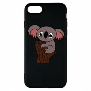 Etui na iPhone 7 Koala on a tree with big eyes