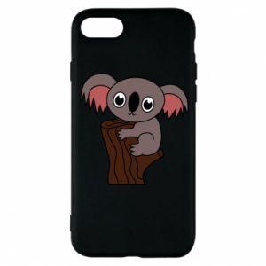 Etui na iPhone 8 Koala on a tree with big eyes