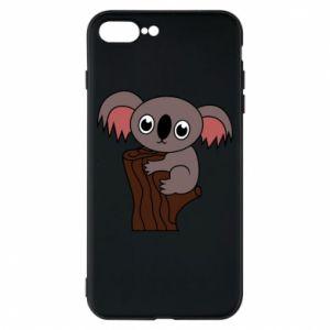 Etui na iPhone 8 Plus Koala on a tree with big eyes